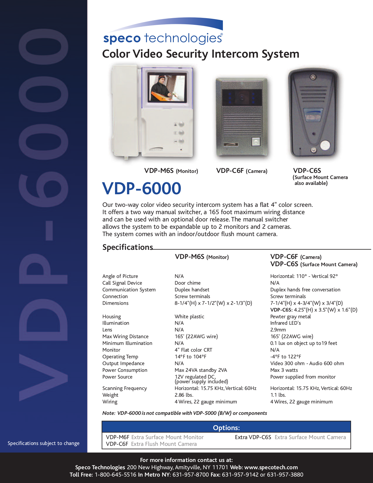 download free pdf for speco vdp 6000 cctv systems other manual rh umlib com Speco Speakers Speco Cushion