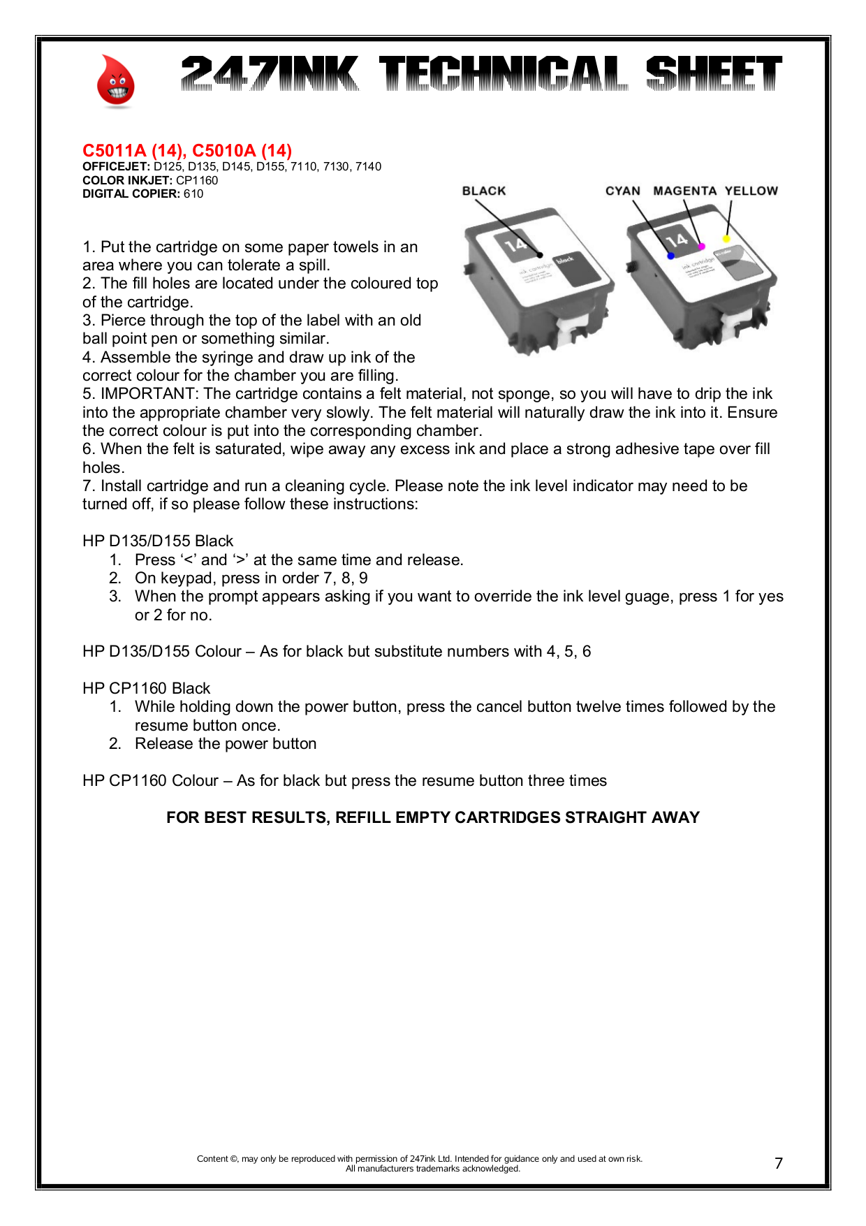 PDF manual for HP Printer Deskjet 3325