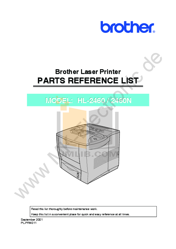 pdf for Brother Printer HL-2460 manual