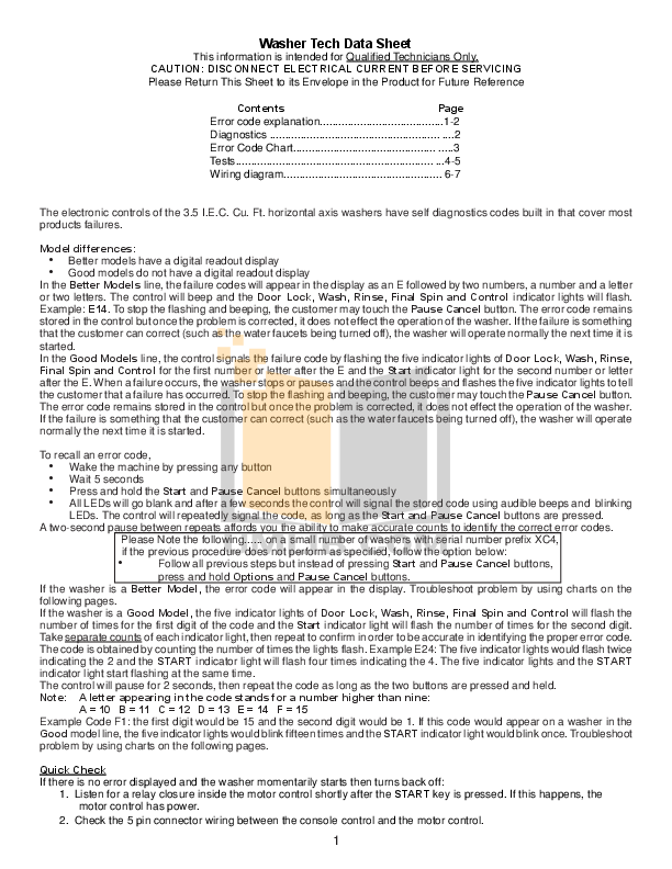 pdf for Frigidaire Washer ATF7000EG0 manual