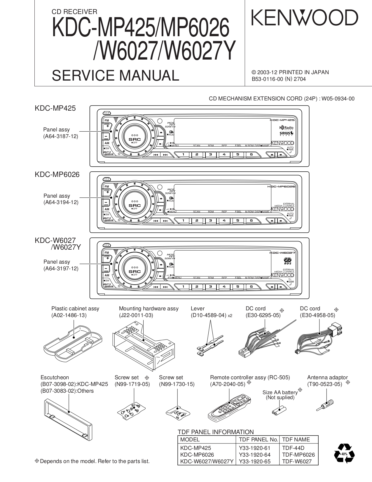 wiring diagram kenwood kdc mp4 25