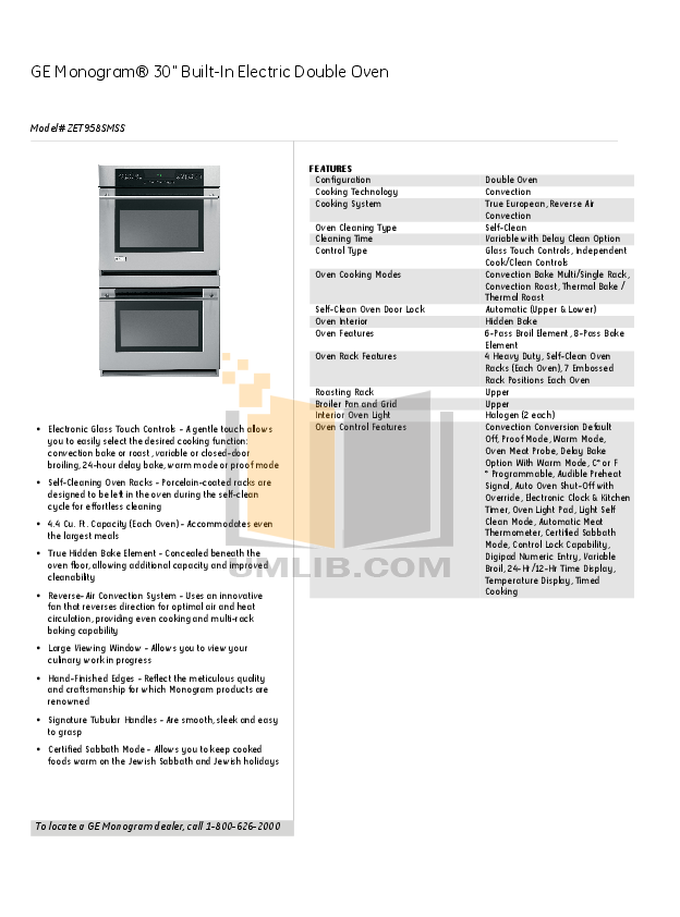 ge monogram oven manual product user guide instruction u2022 rh testdpc co ge monogram refrigerator repair manual GE Monogram Logo