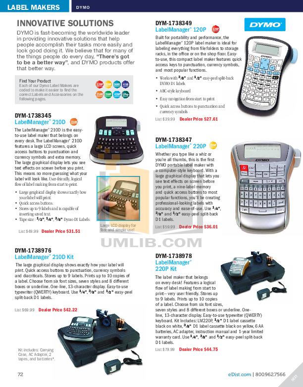 pdf for Brother Printer PT-340 manual