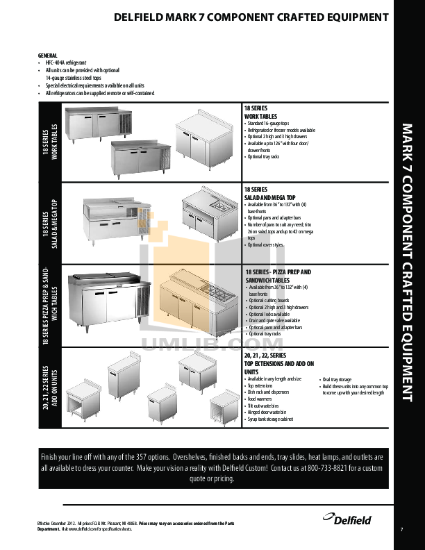 Delfield Other N8100B Cold Pans pdf page preview