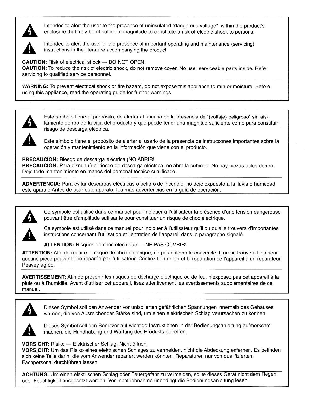 PDF manual for Peavey Amp Max Series Max 115