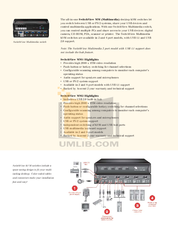 PDF manual for Avocent Switch SwitchView SwitchView MM2