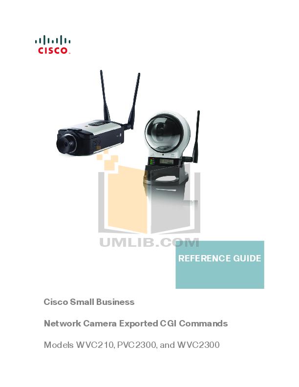 pdf for Cisco Security Camera WVC2300 manual