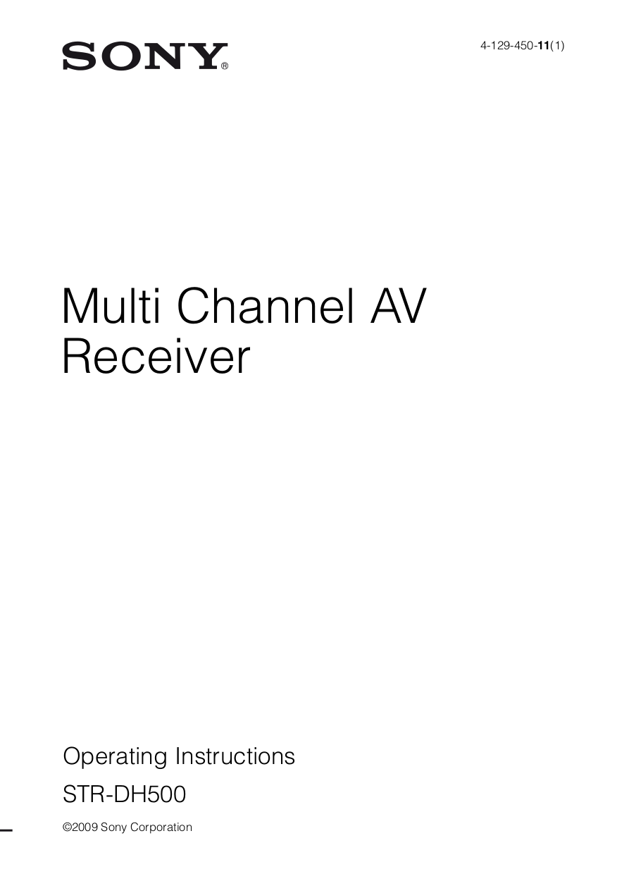 sony 7.1 receiver manual