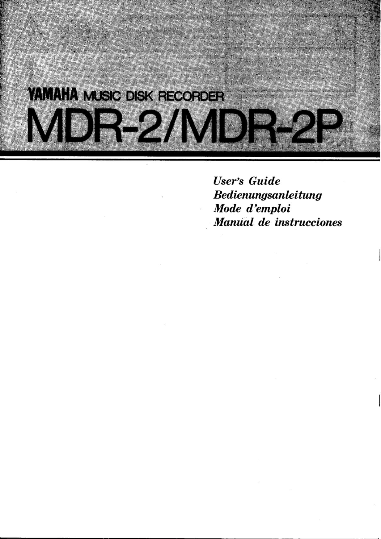 pdf for Yamaha Music Keyboard MDR-2P manual