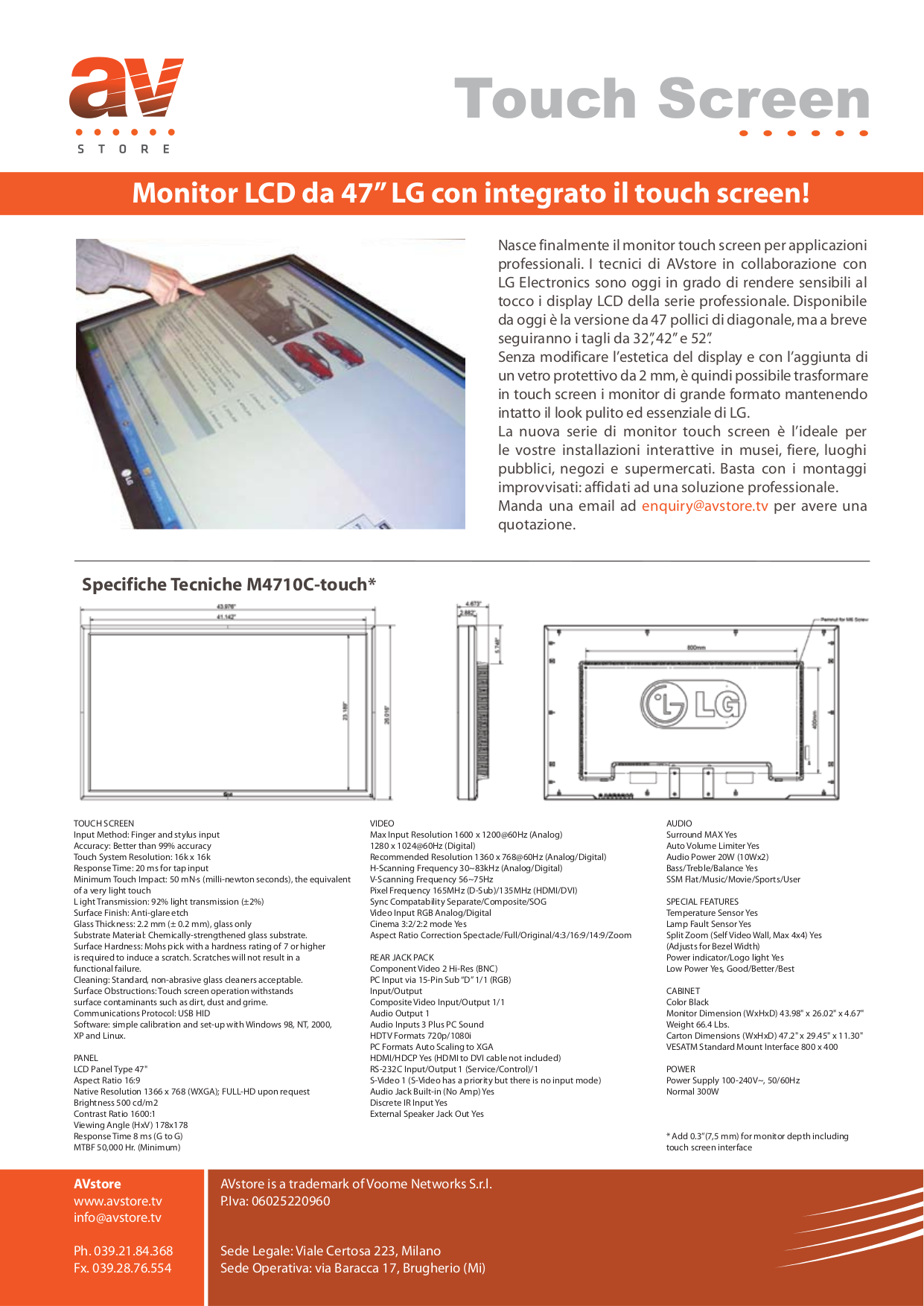 pdf for LG Monitor M4710C manual