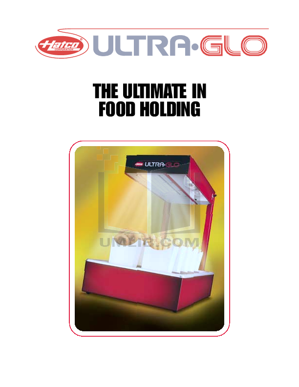 pdf for Hatco Other UGAH-60D manual