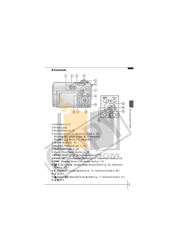 Canon Digital Camera Powershot A640 pdf page preview