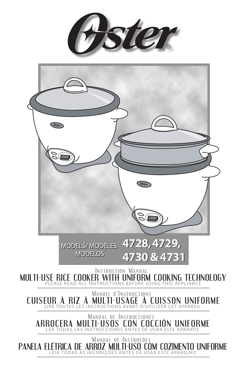 Download Free Pdf For Oster 4707 Rice Cooker Other Manual