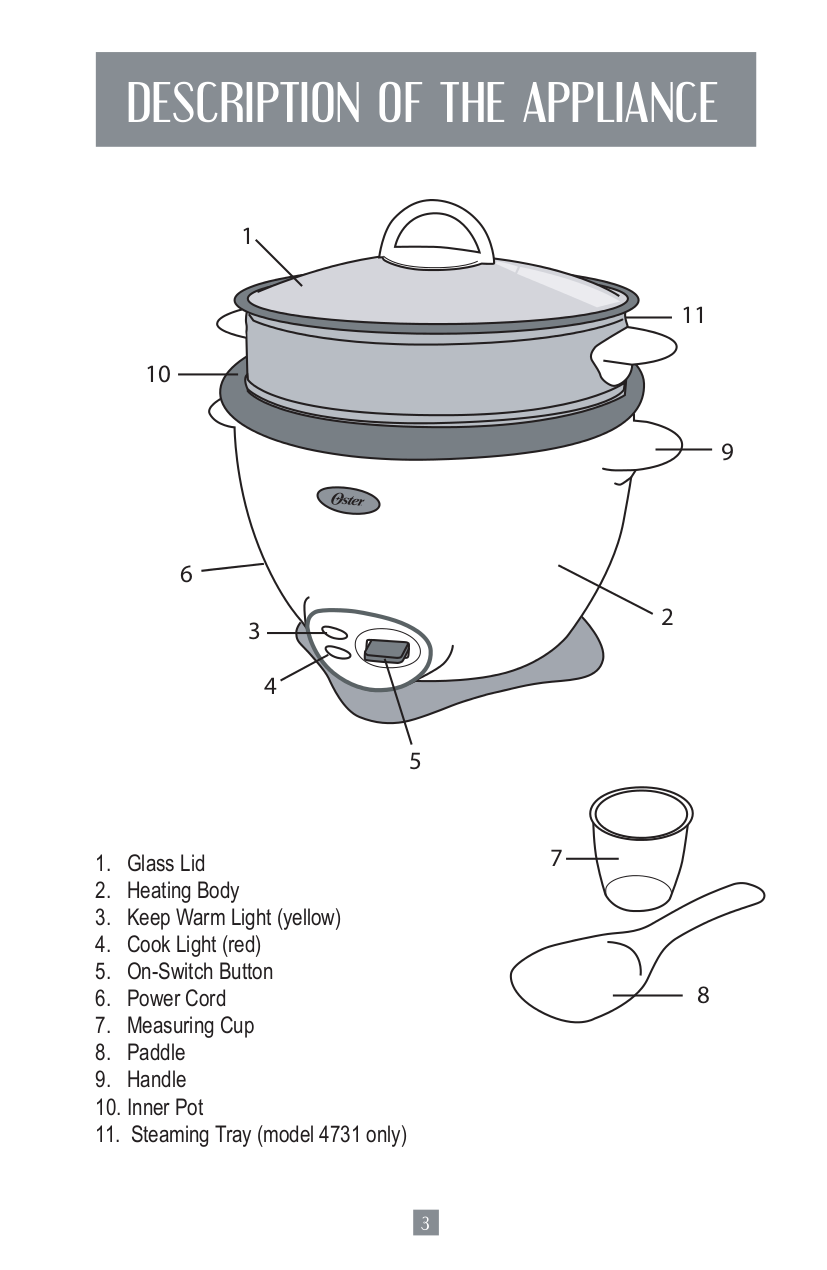 Pdf Manual For Oster Other 4707 Rice Cooker