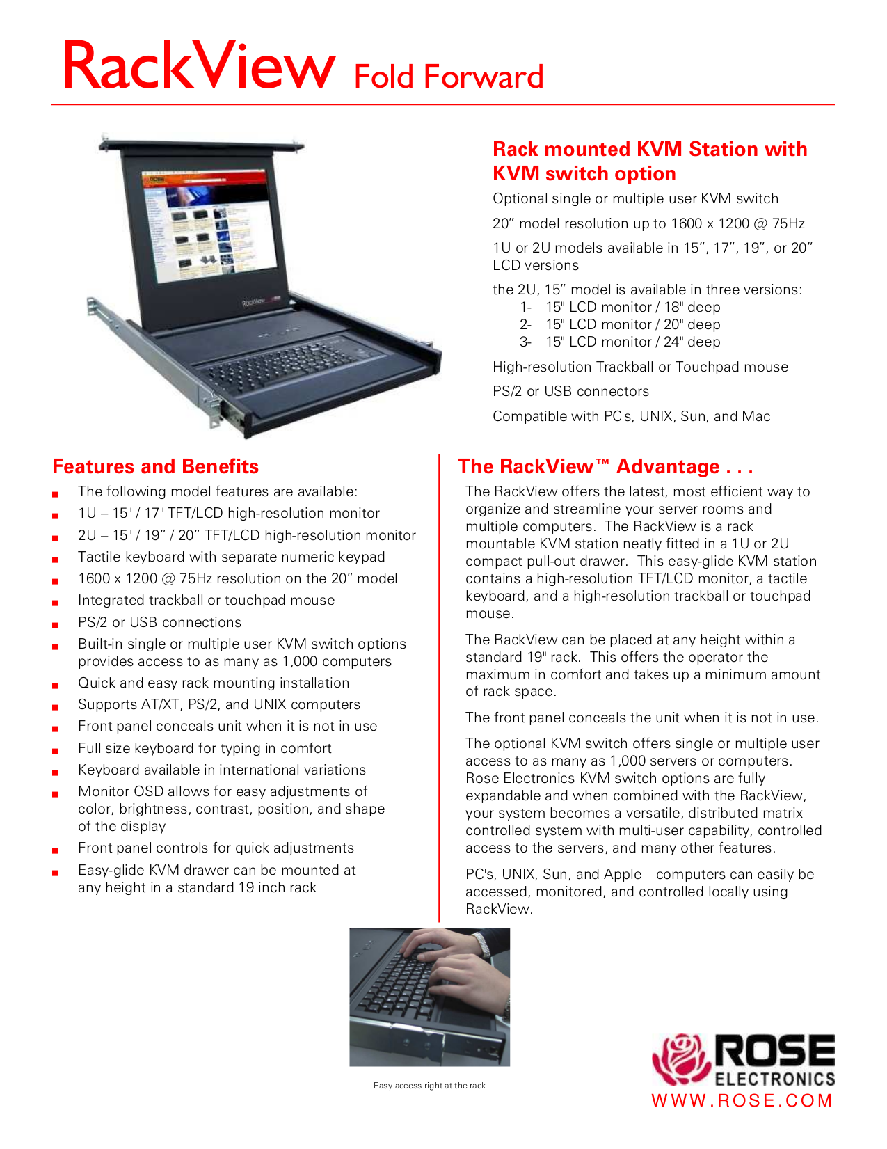 pdf for I-Tech Other RackView RV1-CKVM17 KVM Stations manual