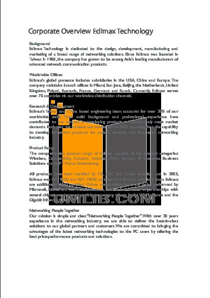 PDF manual for Edimax Wireless Router AR-7084gA