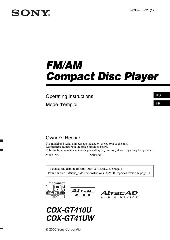 CDXGT410U.pdf 0 download free pdf for sony cdx gt410u car receiver manual sony cdx gt420u wiring diagram at readyjetset.co