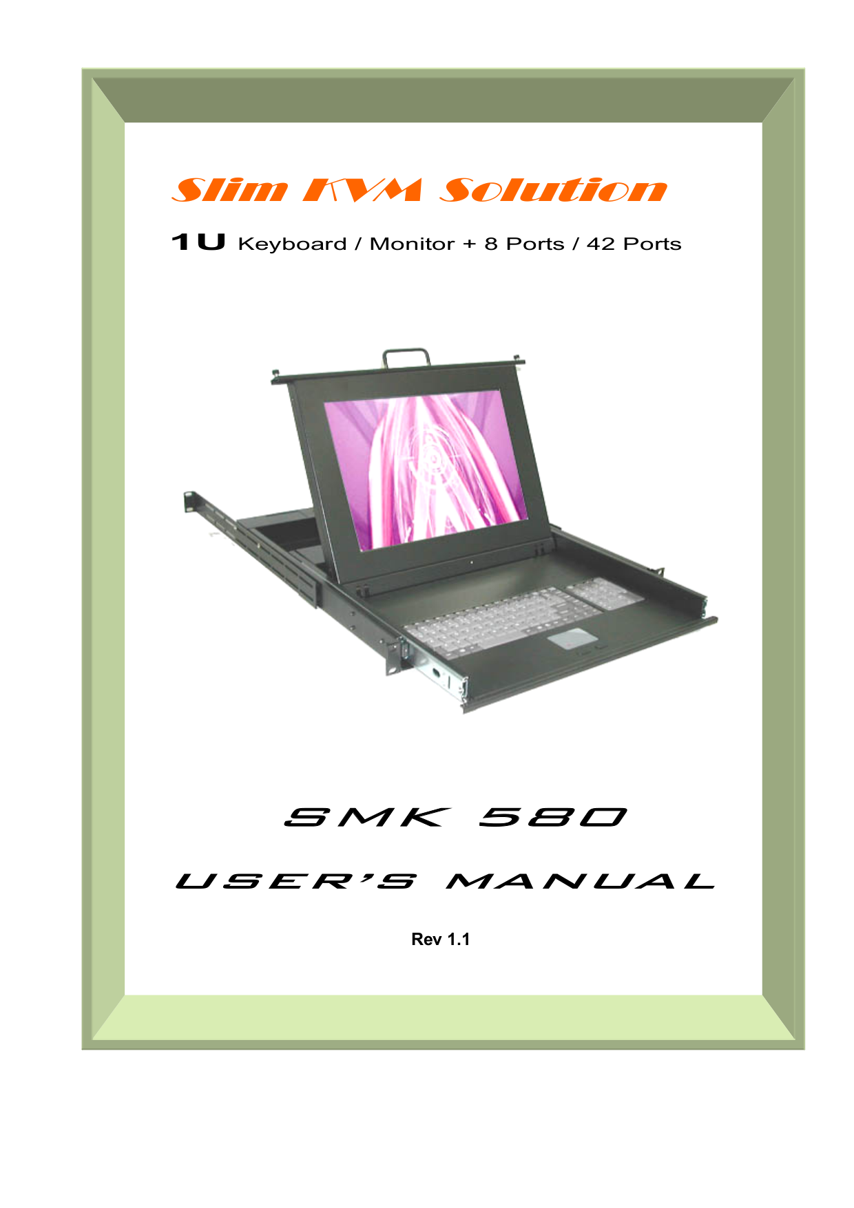 pdf for Rackmount Monitor SMK-580 manual