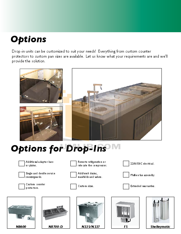 Delfield Other N8231G Frost Top Counter pdf page preview