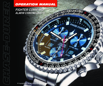 pdf for Chase-durer Watch Squadron Tiger manual