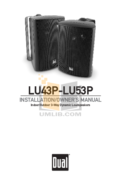 pdf for Dual Speaker LU53P manual