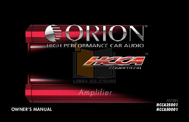 Download free pdf for DEI ORION 2500D Car Amplifier manual