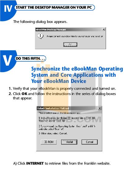 Franklin PDA eBookMan EBM-900 pdf page preview