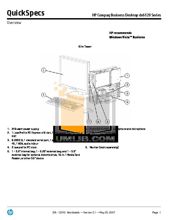 download free pdf for hp compaq dx6120 mt desktop manual rh umlib com hp computer manuals hp desktop 460 manual
