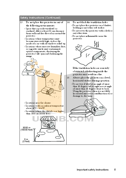 Benq Projector MX511 pdf page preview