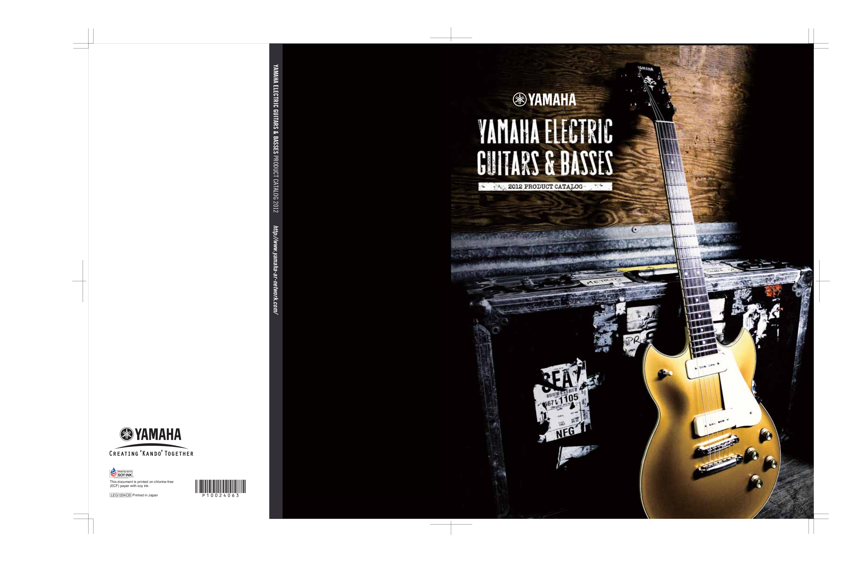 pdf for Yamaha Guitar PAC212VFM manual