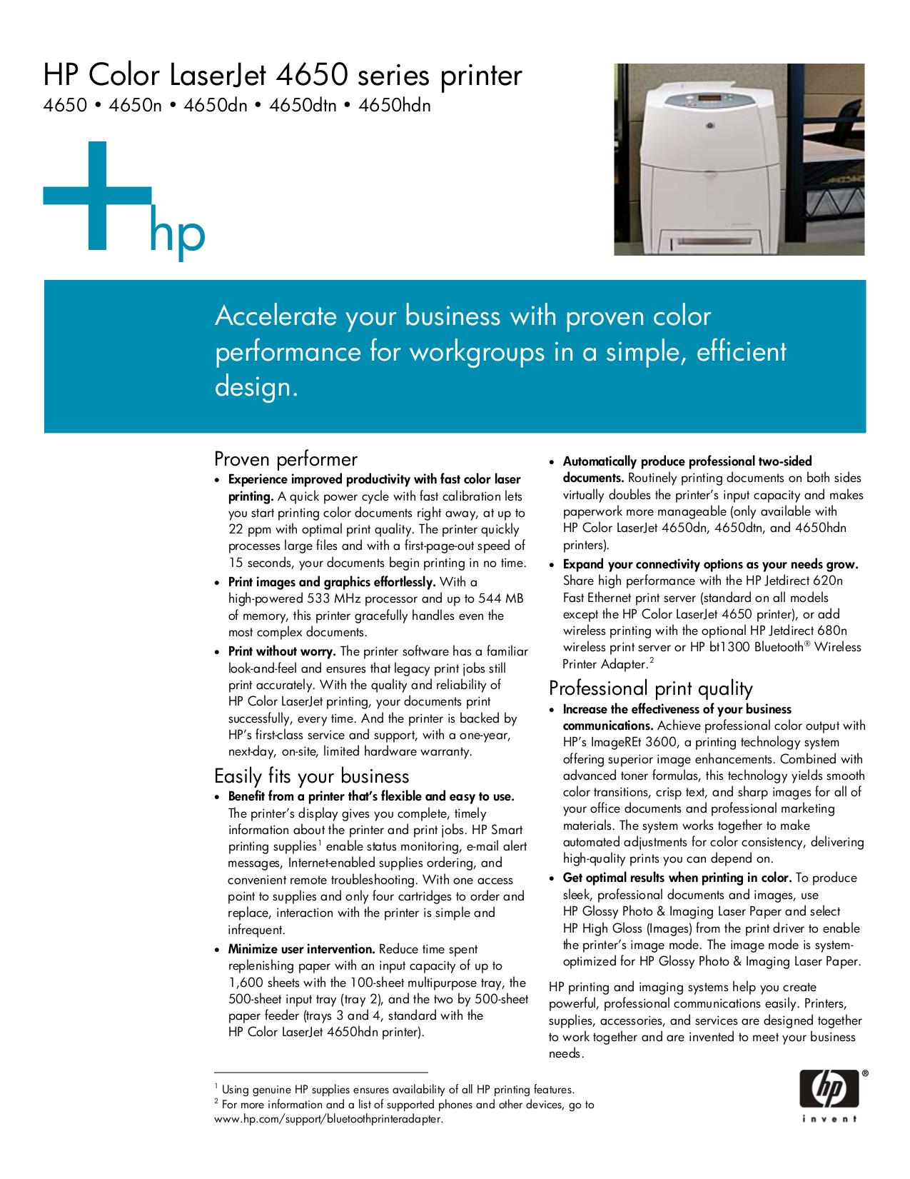pdf for HP Printer Laserjet,Color Laserjet P1000 manual