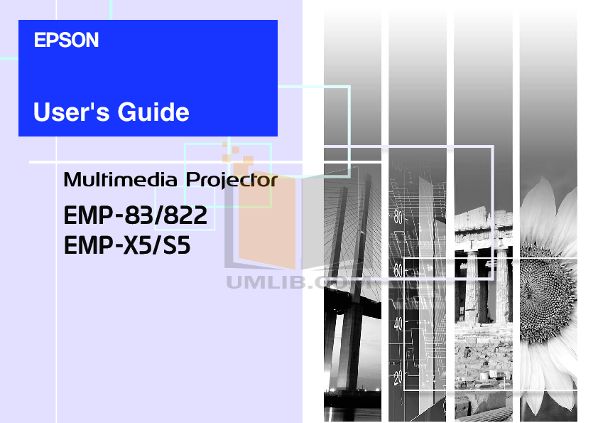 pdf for Epson Projector EMP-755 manual