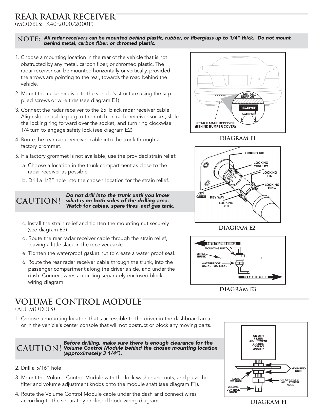 k40 2000p radar detector manual