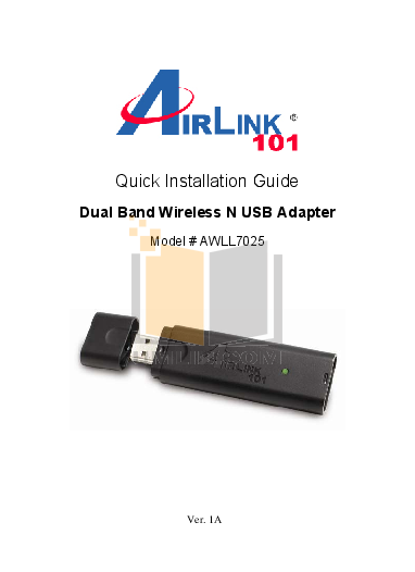 pdf for Airlink Other AICN500 Webcams manual