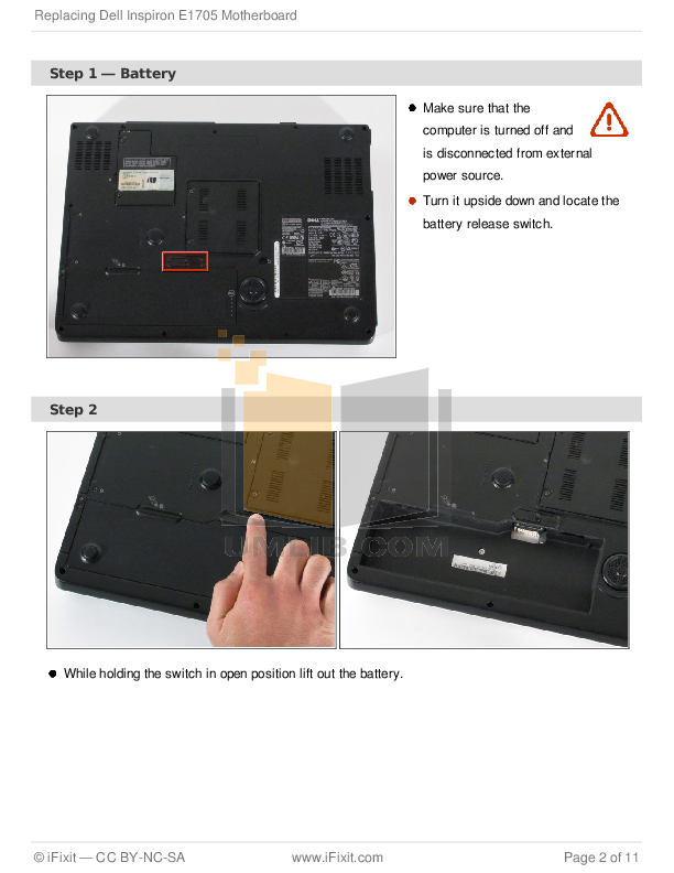pdf manual for dell laptop inspiron e1705 rh umlib com Dell Inspiron E1705 Parts Dell Inspiron E1705 Troubleshooting