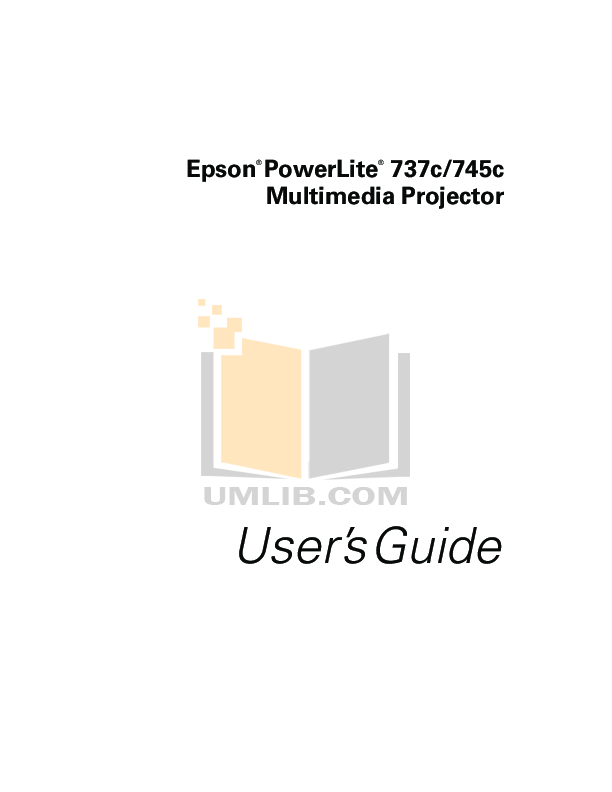 pdf for Epson Projector PowerLite 745c manual