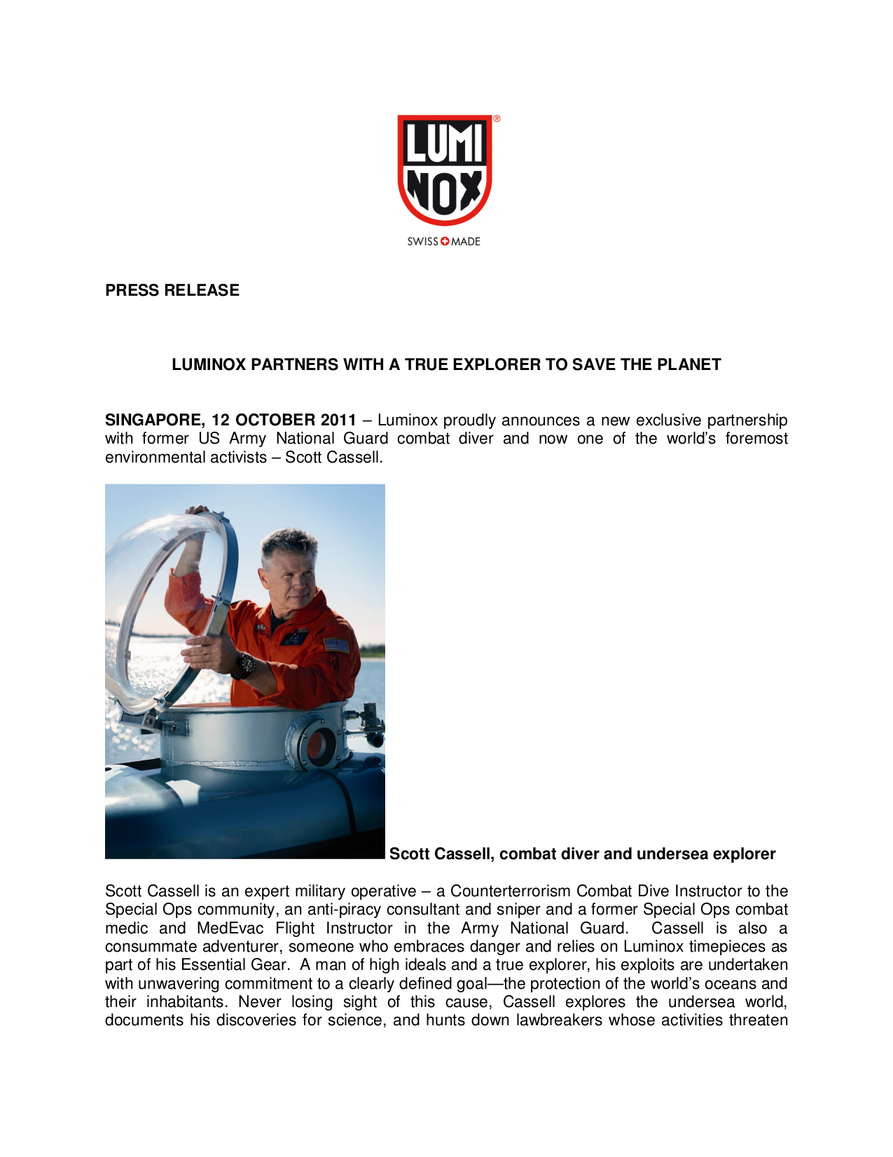 pdf for Luminox Watch Deep Dive 1501 manual
