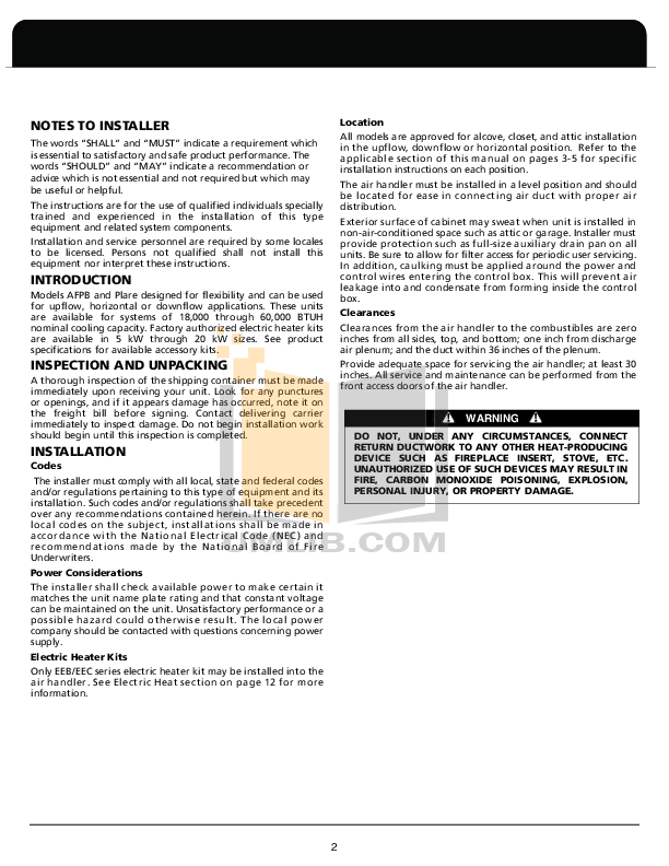 Contemporary Fedders Air Handler Wiring Diagram Collection - Wiring ...