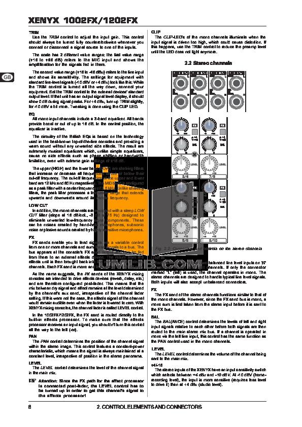 behringer super x pro cx2310 manual