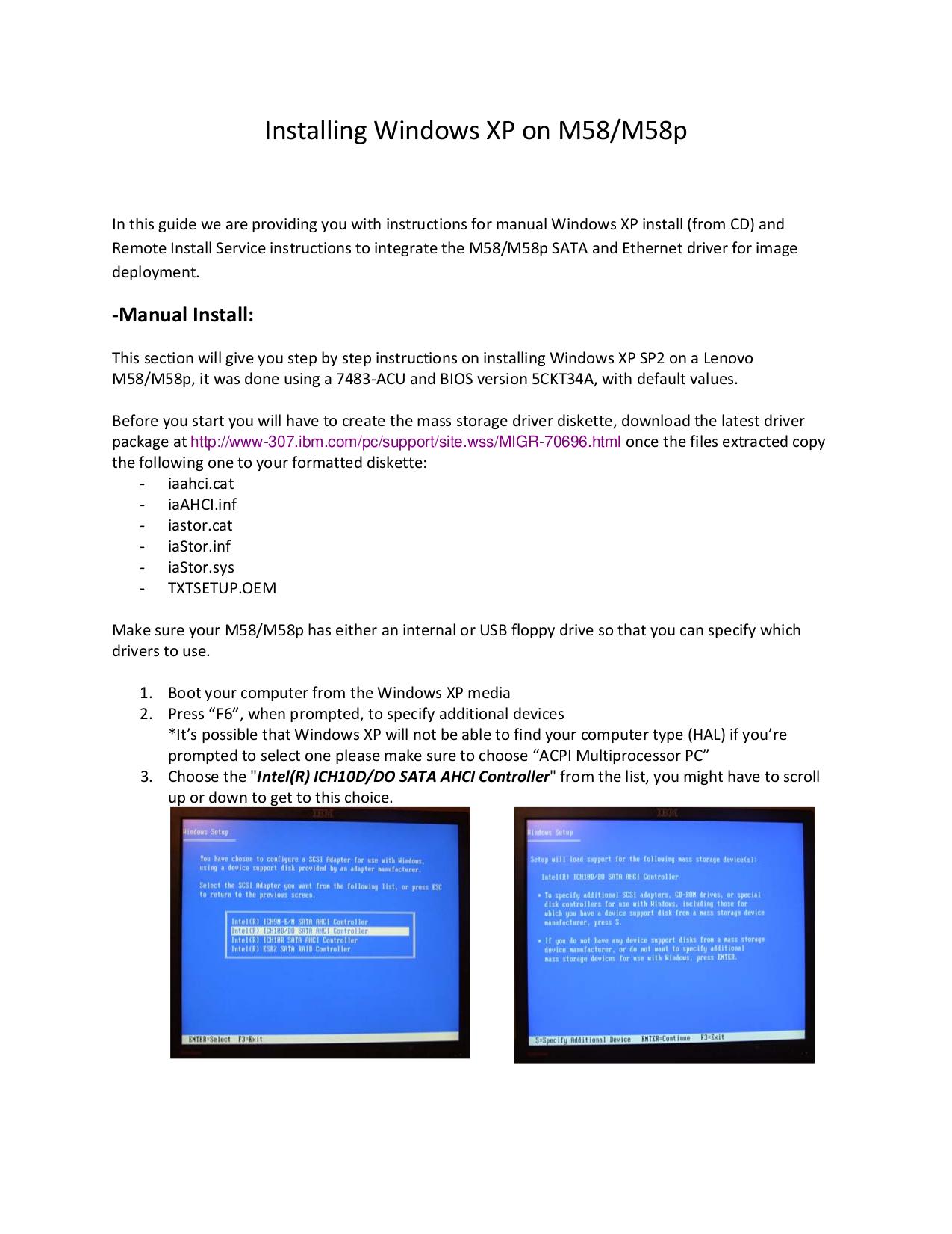 pdf for Lenovo Desktop ThinkCentre M58 3231 manual