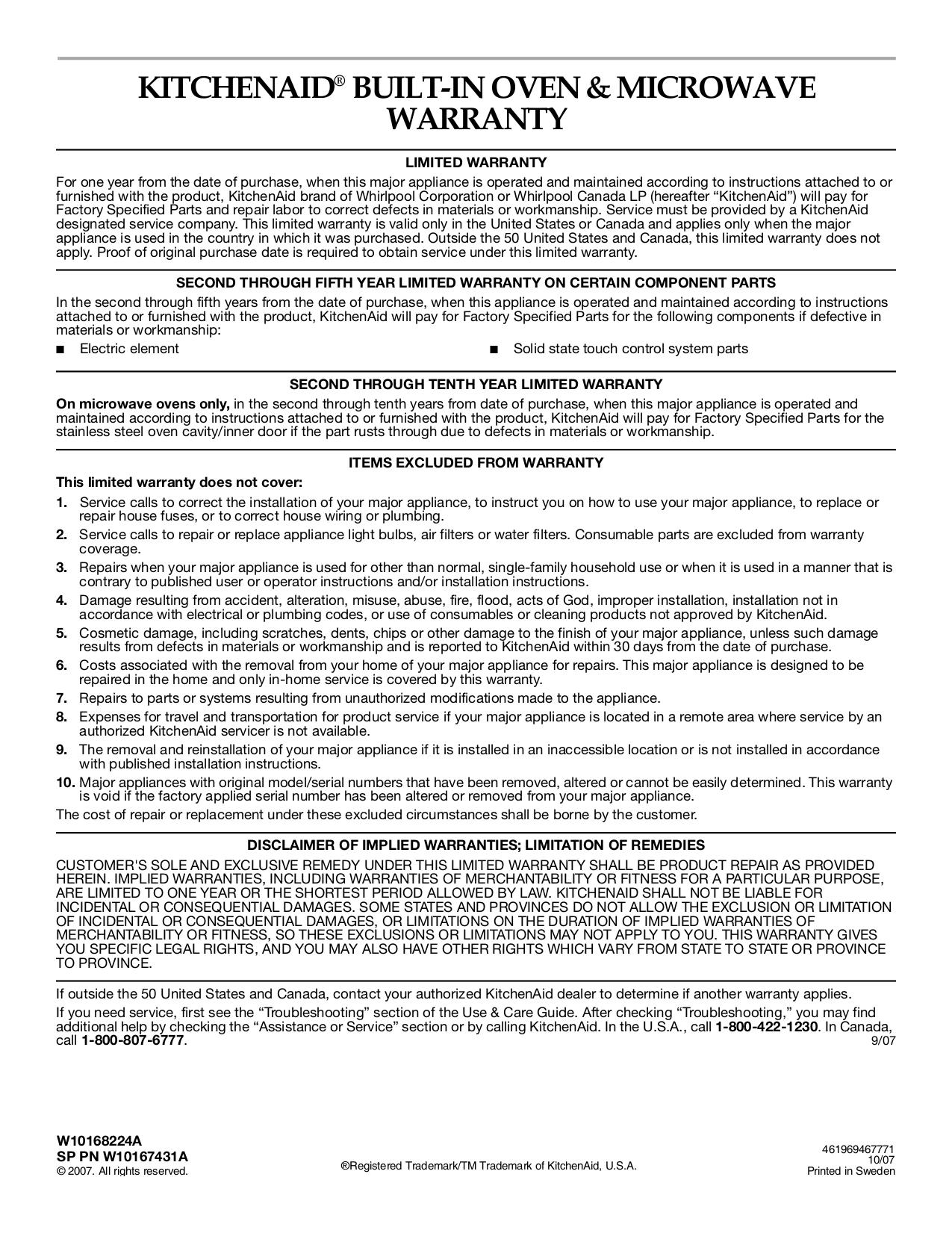 Free Pdf For Kitchenaid Kbms1454sss Microwave Manual