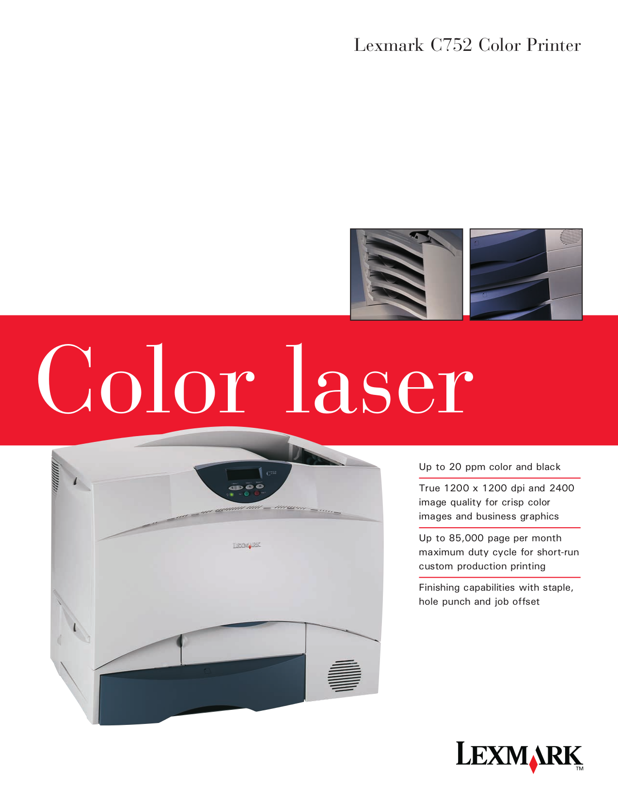 pdf for Lexmark Multifunction Printer N4000e manual