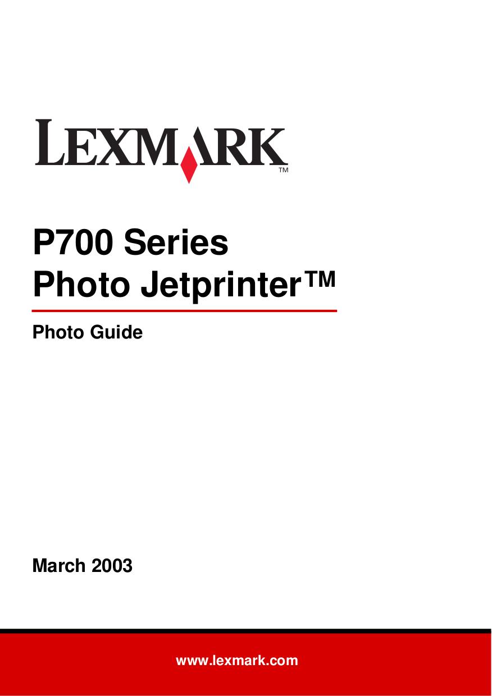 pdf for Lexmark Printer Z700 manual