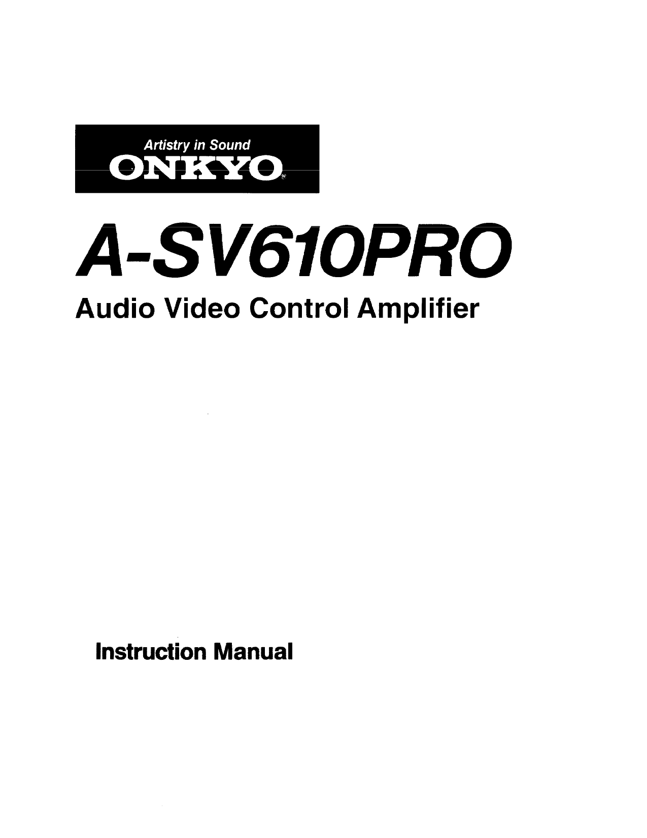 pdf for Onkyo DVD Players DV-L5 manual