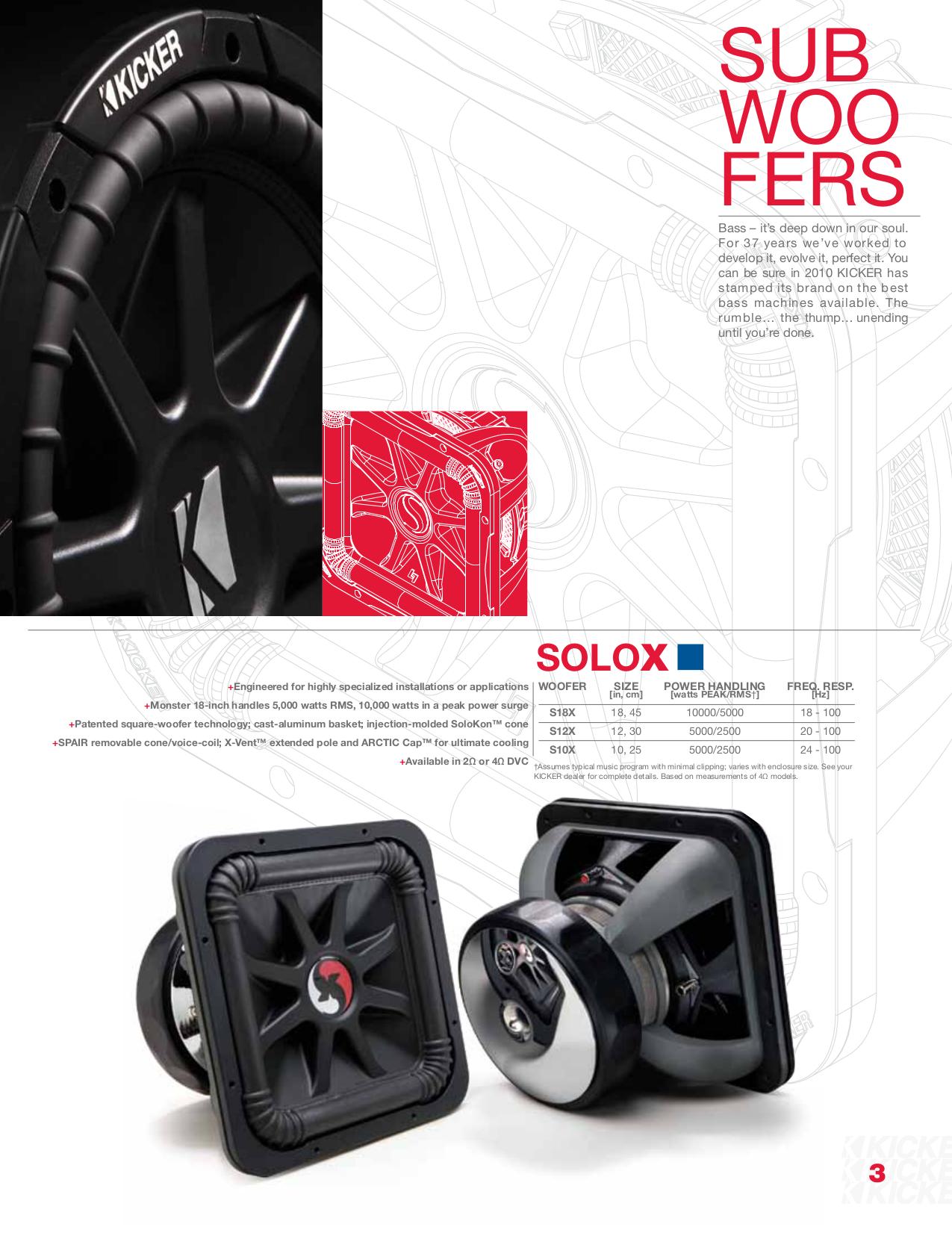 pdf for Kicker Subwoofer Solo-Baric L5 TS10L5 manual