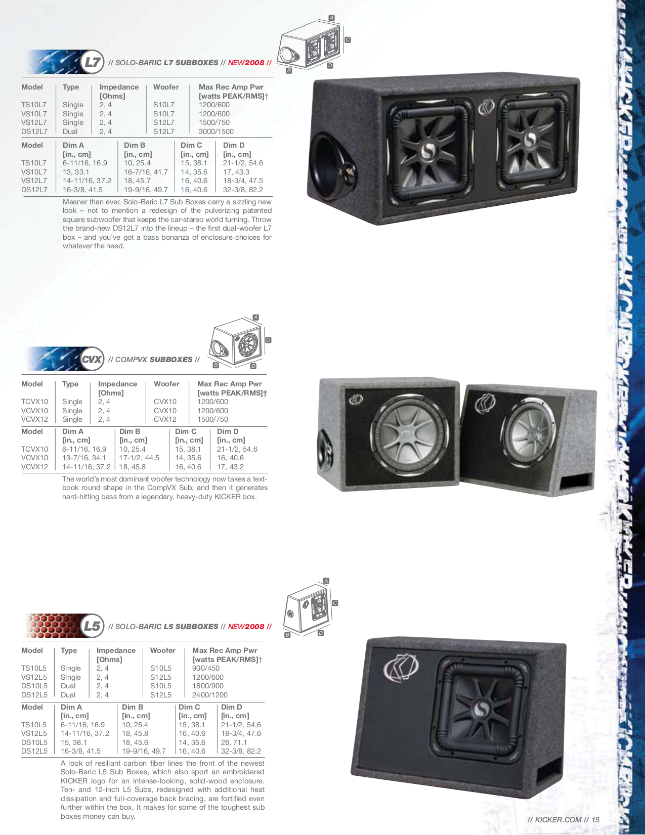 KICKER_08TSL5_SPEC.PDF 0 download free pdf for kicker solo baric l5 ts10l5 subwoofer manual kicker l5 15 wiring diagram at n-0.co