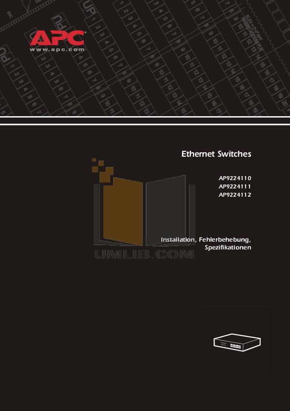 pdf for APC Switch AP9224112 manual