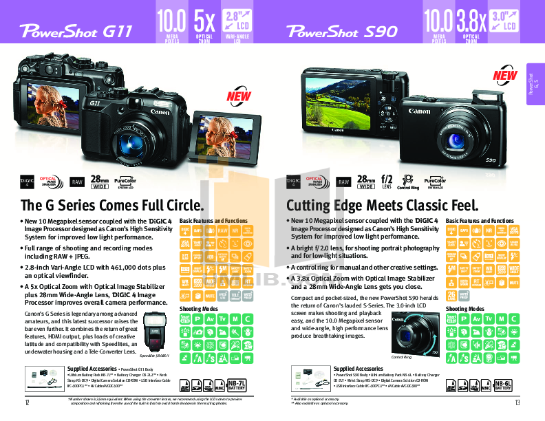 Canon Digital Camera Powershot SD1200 IS pdf page preview