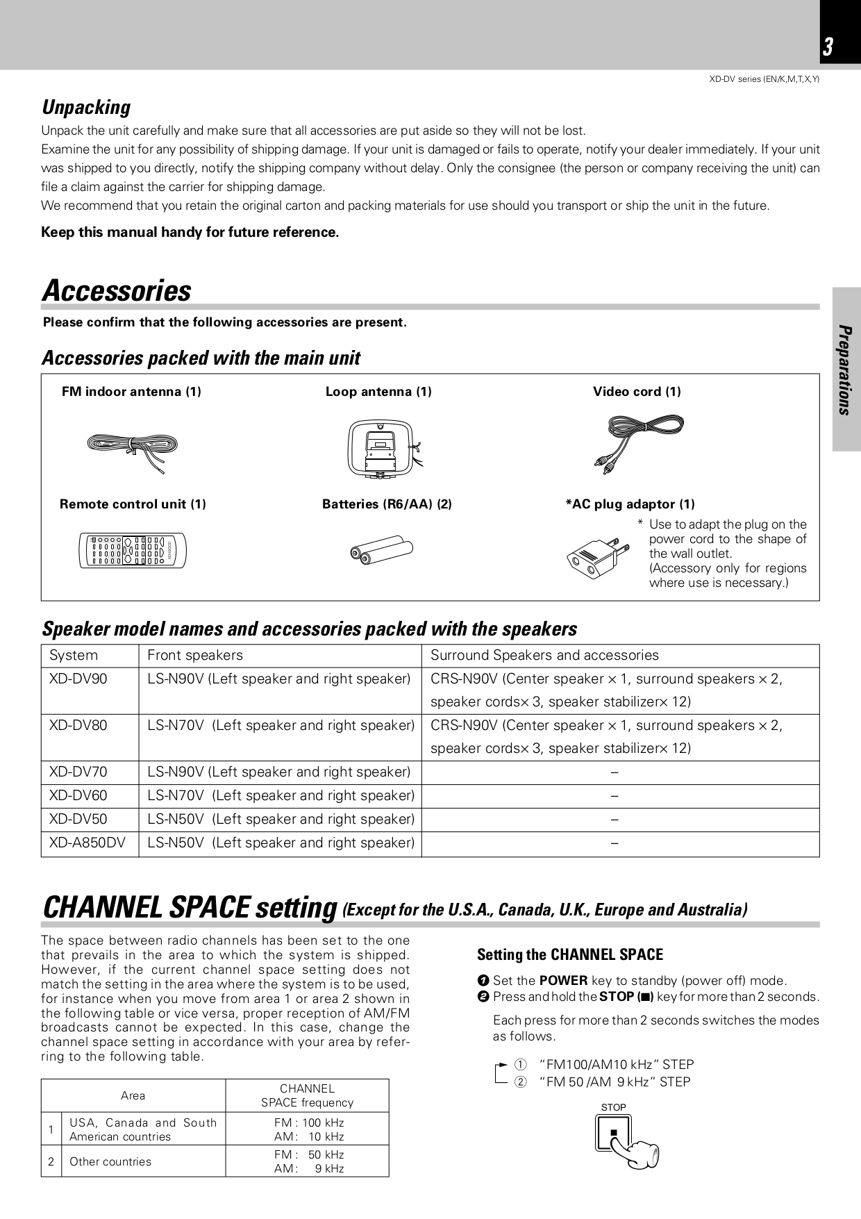 ... Kenwood Home Theater XD-DV90 pdf page preview ...