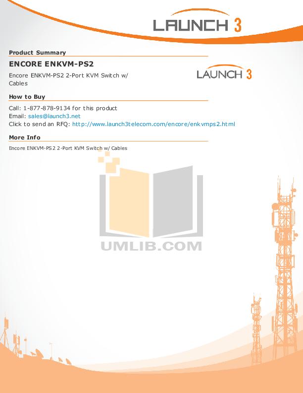 pdf for Encore Switch ENKVM-PS2 manual